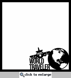 World Traveler 12 x 12 Overlay Laser Die Cut