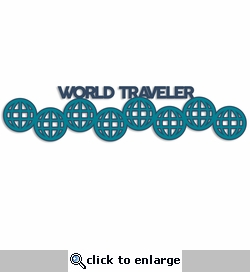 World Traveler Laser Die Cut