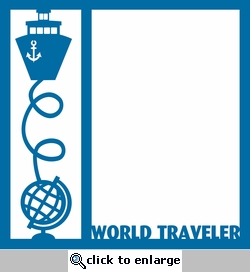 World Traveler Ship 12 x 12 Overlay Laser Die Cut
