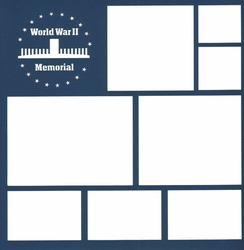 World War II 12 x 12 Overlay Laser Die Cut
