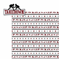 Wrestling: Takedown 2 Piece Laser Die Cut Kit