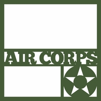 WW2: Air Corps 12 x 12 Overlay Laser Die Cut