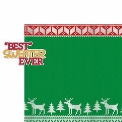 Xmas Jammies: Best Sweater Ever 2 Piece Laser Die Cut Kit