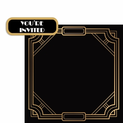 You're Invited 2 Piece Laser Die Cut Kit