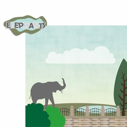 Zoo Days: Elephants 2 Piece Laser Die Cut Kit