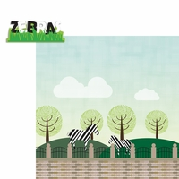 Zoo Days: Zebras 2 Piece Laser Die Cut Kit