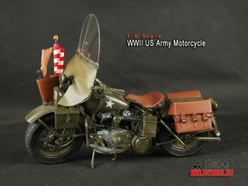 1/6 scale Toy Model Metal construction WWII US Army Harley Davidson Motorcycle (Sold Out)