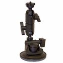 13130: PanaVise ActionGRIP Double Knuckle Suction Cup Camera Mount fits GoPro