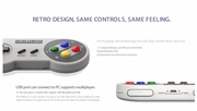 8bitdo SFC30 Wireless Bluetooth Controller Gamepad for IOS / Android / Windows / Mac OS