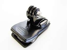 BGP136: Clip Mount for GoPro with 360° Rotary base & quick release j-hook Buckle