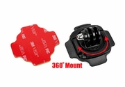 BMGP88: 360 Degree Rotation Helmet Mount with 3M VHB Sticker for GoPro Camera