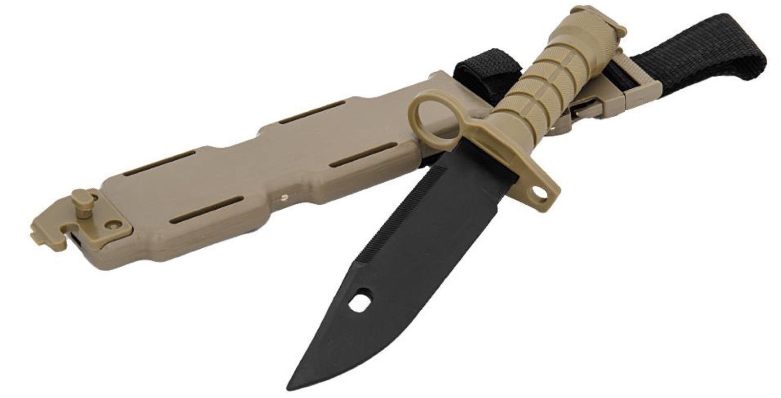 CA-07T: Lancer Tactical Airosft M9 Rubber Bayonet for M4/M16