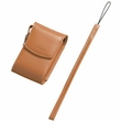 Custom Leather Case with Strap for Panasonic DMC-FX9, FX8, FX7, FX2 Digital Camera (DMW-CFXB8) (Tan or Red)