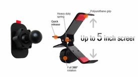 "GA-UVM+IG-PSTARA: Sticky Dash Mount with Universal bracket/cradle for GPS, SmartPhone up to 5"" screen"