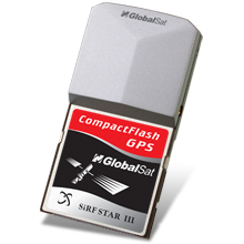 GlobalSat BC-337 Compact Flash GPS Receiver (SiRF III) (PCMCIA Adapter and Ext. Antenna included)