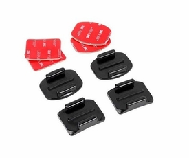 GP10: 2 x Flat and 2 x Curved Mounts with 3M adhesive pads for Gopro Hero HD 1 2 3 3+ Sport Camera