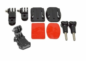 GP19: Helmet Front Mounting Kit with Curved and Flat mount for Gopro Hero HD 1 2 3 3+ Sport Camera