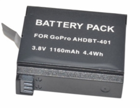 GP4BT: i.Trek 1160mAh Rechargeable Battery for GoPro HD HERO4 replaces AHDBT-401
