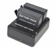 GP4DCHG+GP4BT X 2: i.Trek Dual Battery Charger for GoPro 4 with two Batteries