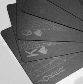LMS003: MollaSpace - Black Deck of Cards