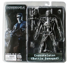 NECA Terminator 2 Judgement Day Endoskeleton 7in Action figure (Battle Damaged)