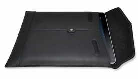 PadManila: leather padded sleeve for iPad (Black)