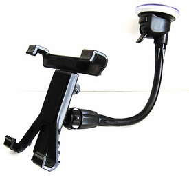 "PH-PAD+ME-10RL: 12"" Long Windshield Mount for iPad, Galaxy Tab, TouchPad"