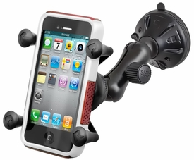 RAP-B-166-2-UN7U: RAM Composite Twist Lock Suction Cup Mount with Universal X-Grip™ Cell Phone Holder