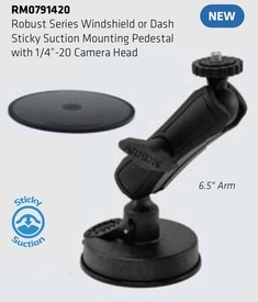 RM0791420: Arkon Robust Sticky Suction Windshield / Dash Mount with Console Disk