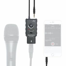 "SmartRig: Saramonic ""SmartRig"" XLR Microphone Audio Adapter with Sound Level Control and Phantom Power for iPhone, iPad, iPod, Mac, and Android Smartphones"
