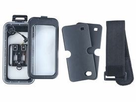 "SPWSC-02: Waterproof Case w/ headphone jack, amrband for Smartphone up to 4.7"" screen size"