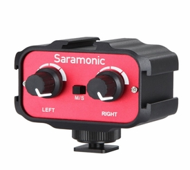 SR-AX100: Saramonic Universal Audio Adapter with Stereo & Dual Mono 3.5mm Inputs for DSLR Cameras & Camcorders