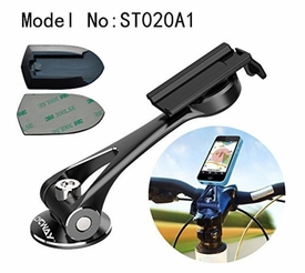 ST020A1: Universal Cycling Bike Metal Stem Cap Mount Holders for SmartPhone, GPS, Radio