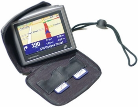 "TTZP35: Leather Zipper Case for TomTom GPS with 3.5"" Screen"