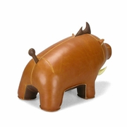 Zuny  Boar (Babu)  Animal Bookend - Tan