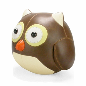 Zuny Cicci Owl Animal Bookend - Brown
