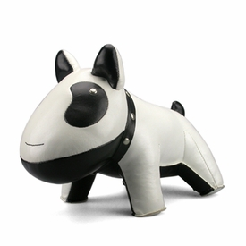 Zuny Classic Doggy Animal Bookend - White