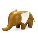 Zuny Classic Elephant Animal Bookend - Tan
