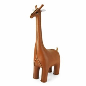 Zuny Classic Giraffe Animal Bookend - Tan
