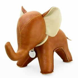 Zuny Elephant ( Abby ) Animal Bookend - Tan
