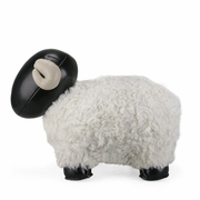 Zuny  Sheep ( Bomy II )  Animal Bookend - Black/White
