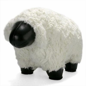Zuny  Sheep (Nell)  Animal Bookend - Black/White