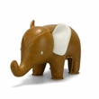 Zuny Small Elephant Animal Paperweight - Tan