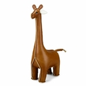 Zuny Small Giraffe Animal Paperweight - Tan
