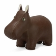 Zuny Small Hippo Animal Paperweight - Brown