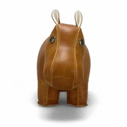 Zuny Small Hippo Animal Paperweight - Tan