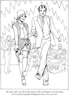 Fashions Coloring Book for Seniors