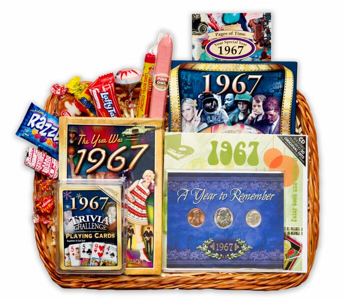 50th anniversary gift basket for