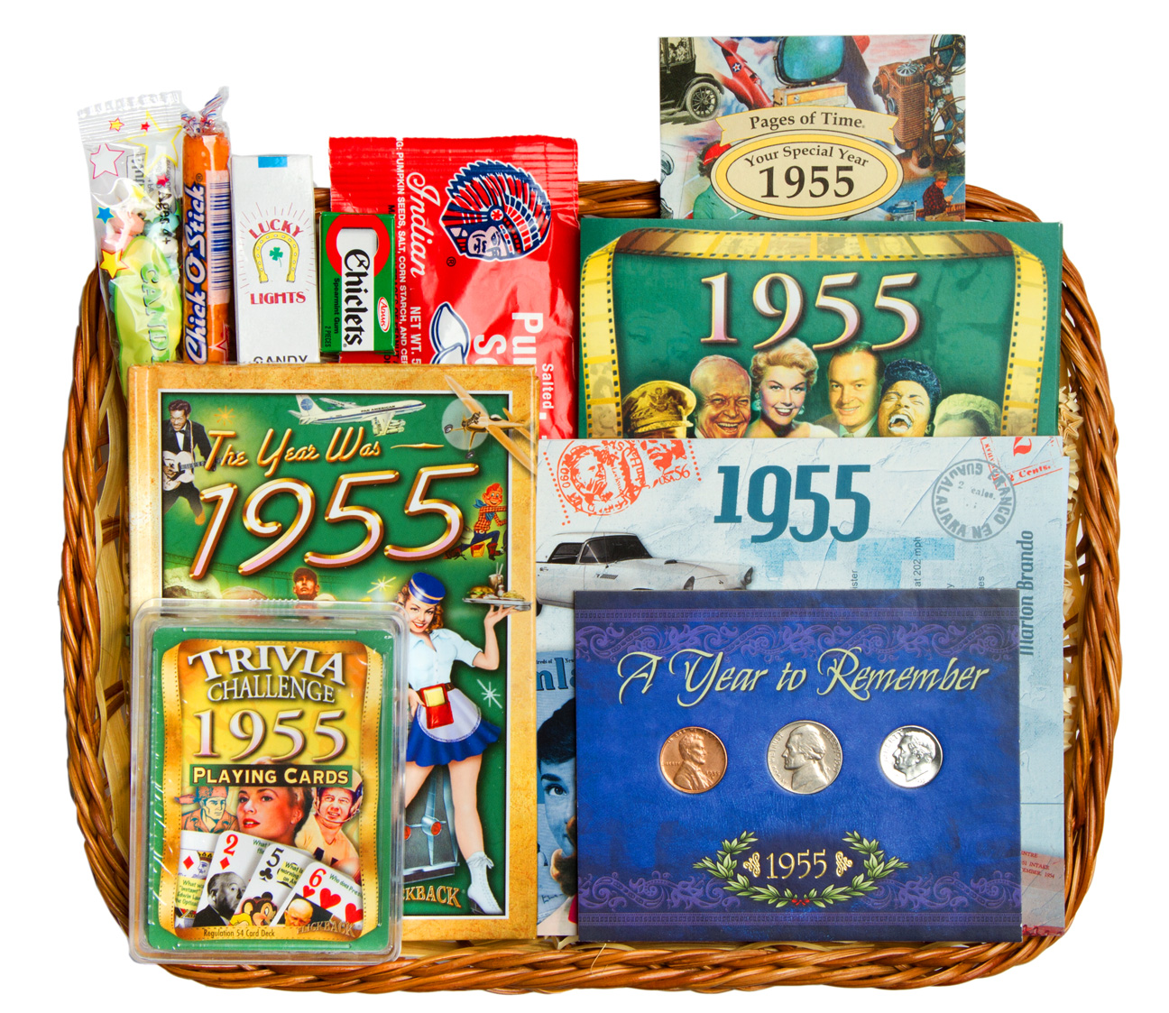 Th anniversary or birthday gift basket for