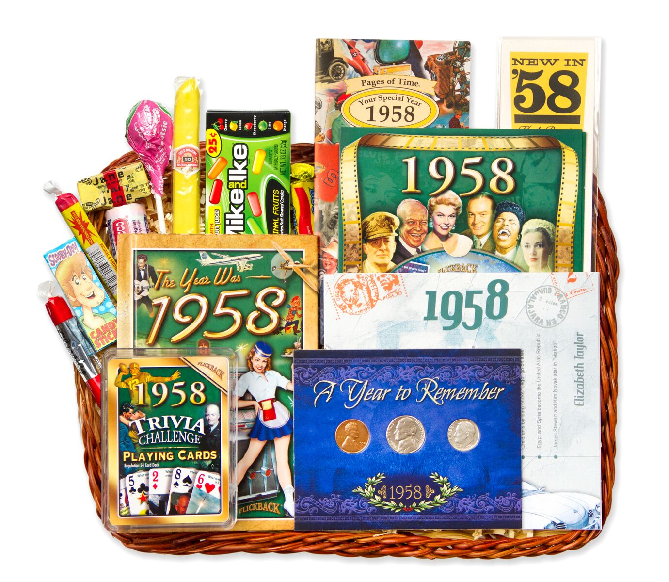 60th Anniversary Or Birthday Gift Basket For 1958 1959
